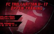 Öppen träning inför FC Trollhättans U17 2019
