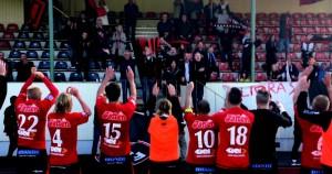FCT tackar några av supportrarna för stödet efter matchen. Det var en grym inställning från alla, från spelare, ledare till supporters.