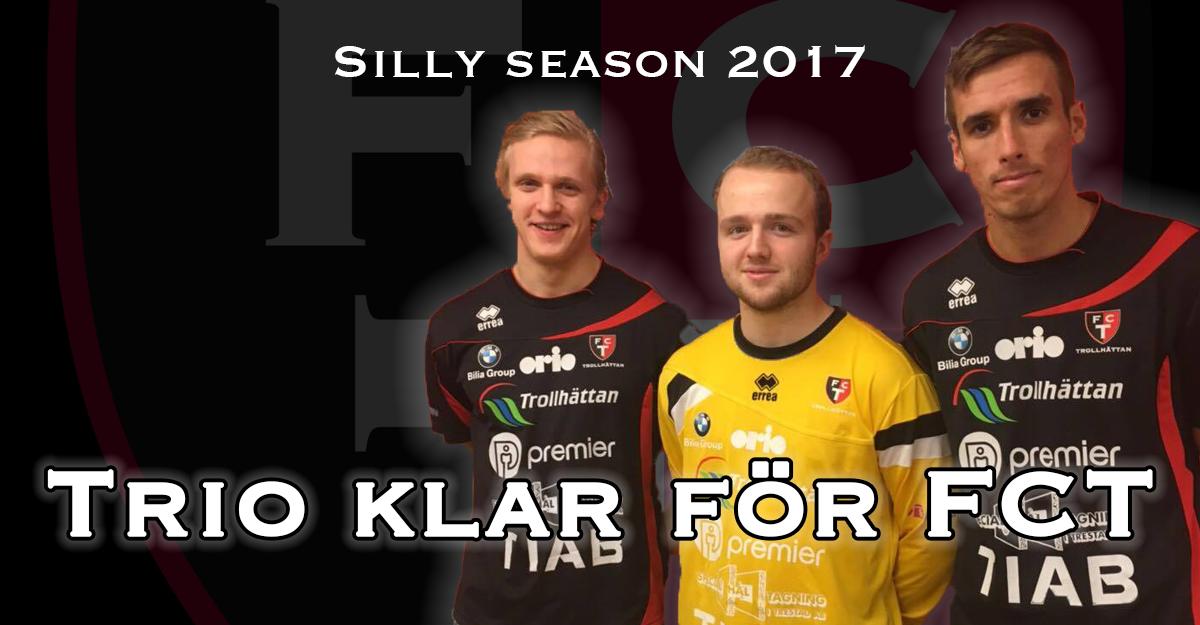 Stark trio klar för FC Trollhättan 2017